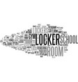 locker word cloud concept vector image