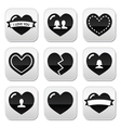 Lovehearts icons set for Valentines Day vector image