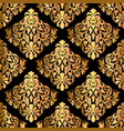 luxury decorative seamless pattern on black vector image vector image