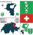 Map of St Gallen vector image vector image