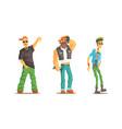 men different subcultures set male rapper vector image vector image