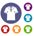 men polo shirt icons set vector image vector image