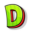 modern playful capital letter d from font and vector image vector image