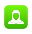 muslim women wearing hijab icon digital green vector image
