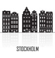 old town stockholm sweden travel landmark vector image