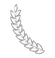olive branch closeup in monochrome blurred color vector image vector image
