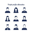 People profile silhouettes icons set vector image