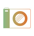 photo camera icon in degraded green to red color vector image vector image