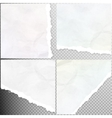 Realistic torn paper EPS 10 vector image vector image