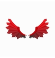 red wings devil icon cartoon style vector image