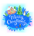 round banner merry christmas vector image vector image
