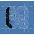 Round engineering font Symbol L vector image