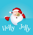 santa claus cartoon vector image vector image