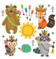 set of isolated tribal animals part 1 vector image