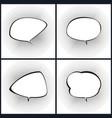 set of retro style speech bubble vector image vector image