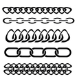 silhouettes of chain vector image