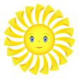 single smiley face vector image vector image