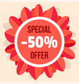 special offer autumn sale background flat style vector image vector image