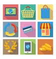 Square icons for internet shopping and banking vector image
