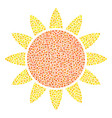 sun composition of dots vector image vector image