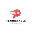 tennis table logo icon vector image