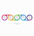 timeline infographics with 5 options vector image vector image