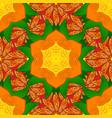 unusual flower shape oriental line outline vector image vector image