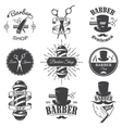 Vintage barber shop emblems