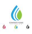 water drop logo template vector image vector image