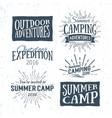 vintage summer camp typographic retro logo vector image