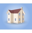 House on blue background vector image