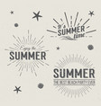summer time logo templates holidays lettering vector image