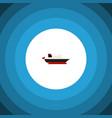 isolated transport icon flat cargo element vector image
