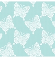 Lace with butterflies vector image