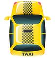 A topview of a yellow taxi cab vector image vector image