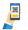 access to web site by qr code vector image vector image