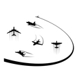 Airplanes and jets symbols for any flight design vector image vector image