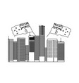 australian city with flags nation vector image vector image