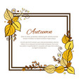 autumn frame and leaves on vector image vector image