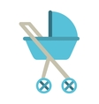 baby carriage isolated icon design vector image vector image