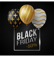black friday sale poster with shiny luxury vector image vector image