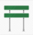 blank green traffic road sign isolated vector image
