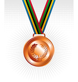 Bronze medal ribbons background vector image vector image