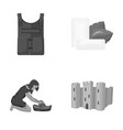 bulletproof vest chewing gum and other monochrome vector image vector image