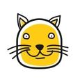 Cartoon animal head icon Cat face avatar