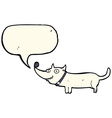 cartoon happy dog with speech bubble vector image vector image