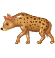 Cartoon hyena walking isolated on white background vector image vector image