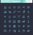 casino related icon set well-crafted sign vector image vector image