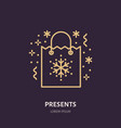 christmas gifts new year presents packaging flat vector image