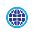 circle globe technology logo vector image vector image